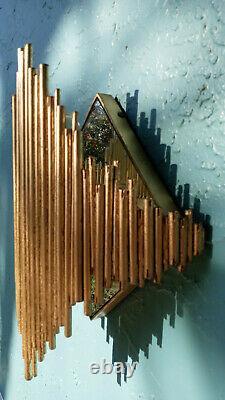 Pair Of Deco Gold Iron Diamond Wall Sconce By Arteriors Lighting