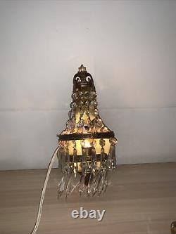 Pair Of Vintage Electric Italian Chandelier Wall Sconces