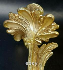 Pair Rococo Gilded Brass Candelabra Sconce Wall Decor Made in Spain s-2C