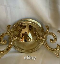 Pair Solid Brass French Bouillotte Wall Sconce Sconces Lamp More Available