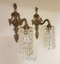 Pair Vintage French Style Single Arm Wall Lights / Down Lights X 4 Available