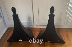 Pair of 2 Regency Style Black & Gold Wall Shelf Sconce Shelves 14