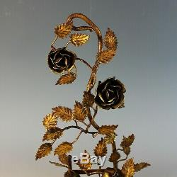 Pair of Elegant Floral Wall Candle Sconces