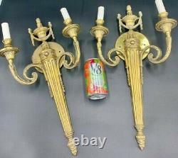 Pair of Large french wall Sconce gilded bronze
