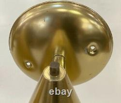 Pair of Mid Century Brass Cone Wall Sconces