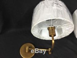 Pair of Robert Abbey Brass Koleman Swing Arm Lamp Industrial light wall sconce