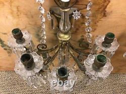 Pr 19thC Gold Gilt Bronze French Louis XVI Gas Wall Sconce Gas Light Fixtures