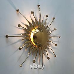RARE Mid Century Modern SUNBEAM Sunburst ATOMIC Sputnik WALL LAMP Sconce 1960s