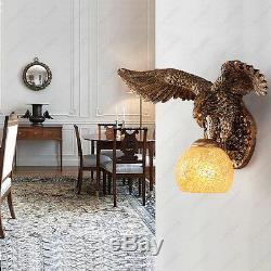 Retro 5W LED Wall Sconces Light Eagle Lamp E27 Bulb Living Room Bedroom Hallway