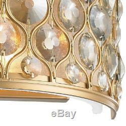 SALE Paris 2 Light Matte Gold & Golden Teak Crystal Wall Sconce Modern W12 x H6