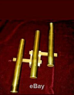 Sciolari Pair Sconces Wall Lamp Gold Linear. Design 1970
