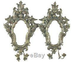Sconces, Antique Italian Baroque Style Mirrored, Pair of Lovely Wall Decor
