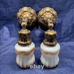 Set of four 4 quality antique wall sconces with Dark Gracian gold finish 106D