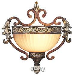 Seville 1 Light Livex Palacial Bronze Wall Sconce Lighting Fixture Sale 8540-64