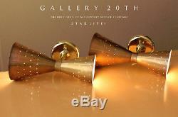Starlite! Italian MID Century Modern Wall Sconce! Sarfatti Arteluce Lamp Vtg 50s