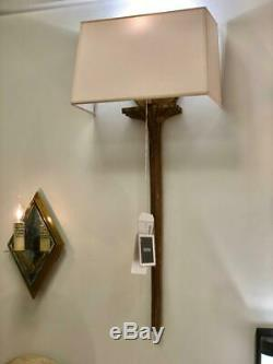 Strie Wall Sconce in Gilded Iron Floor Sample Visual Comfort & Co CHD 2705GI-NP