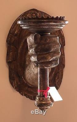 Superb Gilt-wood Designer Hand and Wrist Wall Sconce