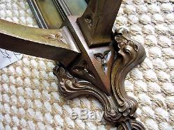 Tiffany Antique Solid Bronze Gothic Church Wall Sconce Victorian Candle Holder