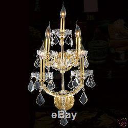 USA BRAND Maria Theresa 5 Light GOLD Crystal Wall Sconce Light 12 x 29 LARGE