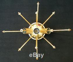 VINTAGE 60's VAL ST LAMBERT SPUTNIK WALL SCONCE CRYSTAL DISCS RETRO MID CENTURY