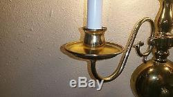 VINTAGE Gold Brass Tone Wall Sconce Light Fixture Lighting 2 Lights Set of Two