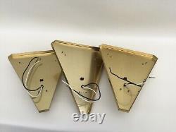 VTG Art Deco Satin Glass Slip Shade Sconce Wall Light Fixture 3 Available