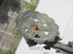 Victorian Brass Church Wall Light Bracket Candle Sconce Old Gothic Antique 17D