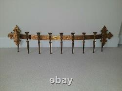 Vintage 9 Candle Holder Gold Candelabra Wall Sconce Syroco Hollywood Regency