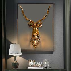 Vintage Deer Wall Lamps Antler Led Wall Sconce Light Fixture Bedroom Living Room