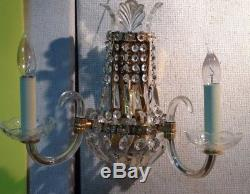 Vintage German Light Gold Finish Wall Sconce Lights Chandelier Wall Lamp 13