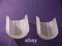 Vintage Matched Pair Of Pottery Slip Shade Art Deco Wall Sconces