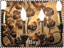 Vintage Mid Century Modern Hollywood Regency Wall Sconce Chandelier 6 Light Lamp