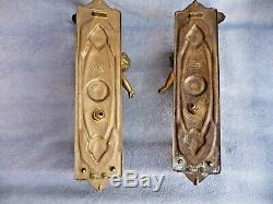 Vintage Pair Heavy Gilt Brass Cherub Wall Sconces Candle/Lights Mid/Late Century