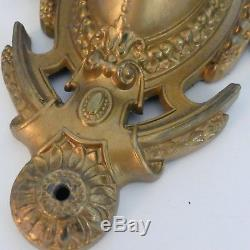 Vintage Pair of Gold Decorated Double Arm Wall Sconces (Electric)