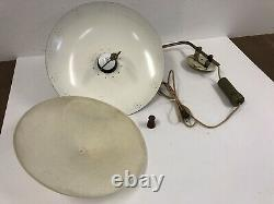 Vintage WALL SCONCE LIGHT Fixture mid century modern Hanging lamp elbow gold