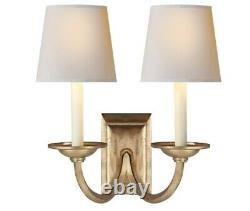 Visual Comfort 2 Light Gilded Iron Wall Sconce