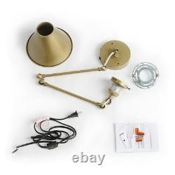 Wall Lamp Swing Arm Wall Sconces Desk Plug-in Sconces Wall Lighting Champagne