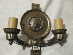 Wall Sconces 1920's Lighted Wall Sconces Set of 4 Double Lights 2 Pairs