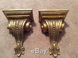 Wall shelves, sconce, gold, destressed, new, heavy